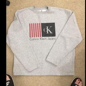 Gray Calvin Klein Crew Neck